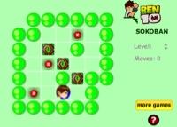 jeu de sokoban avec ben 10
